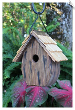 "Windy Willows Birdhouse <br><span style=""color:#1954e9;"">New Item!</span>"