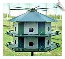 "12 Compartment House with Rope or optional winch raising system <br><span style=""color:#1954e9;"">New Item!</span>"