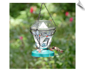 "Jewels in Flight Hummingbird Feeder <br><span style=""color:#1954e9;"">New Item!</span>"
