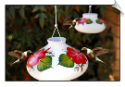 "Handpainted Posy Hummingbird Feeder  <br> 2 Sizes <br> <span style=""color:#1954e9;"">New Item</span>"