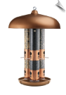 Copper Triple Tube Bird Feeder